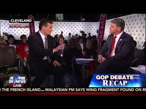 Ted Cruz with Sean Hannity After the #GOPDebate