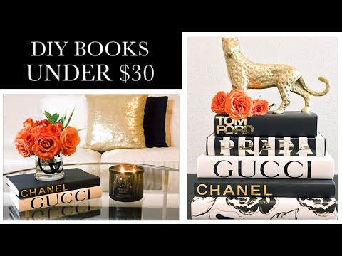 Diy Designer Books Coffee Table Books Youtube