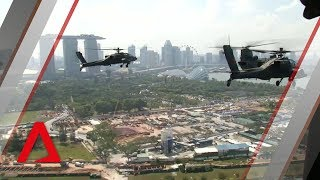 RSAF aerial display: View from aboard a Super Puma helicopter
