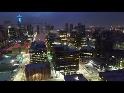 REALLY COLD -31c NIGHT DOWNTOWN CALGARY, ALBERTA