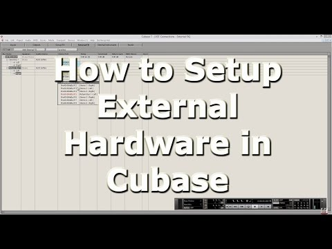 How to set up External Hardware in Cubase
