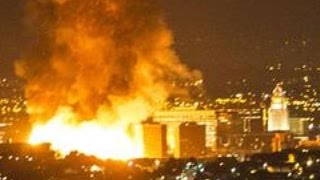Huge Fire In Downtown Los Angeles Caught On Video