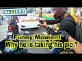 Why he is taking his pic ? best and funniest bikers moment | Brazzers | KTM RC390