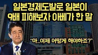 일본이 한국보다 9배나 피해보자, 아베가 꺼낸 말.