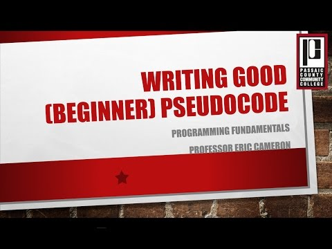 Writing Good Beginner Pseudocode