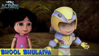 Vir The Robot Boy   Hindi Cartoon For Kids   Bhool Bhulaiya   Animated Series  WowKidz Action