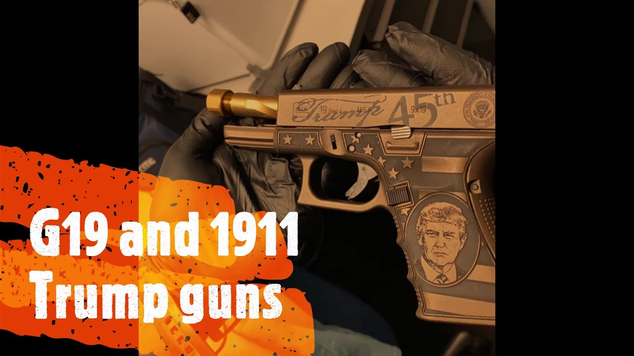 Glock 19 versus 1911 Battle of the Trump guns
