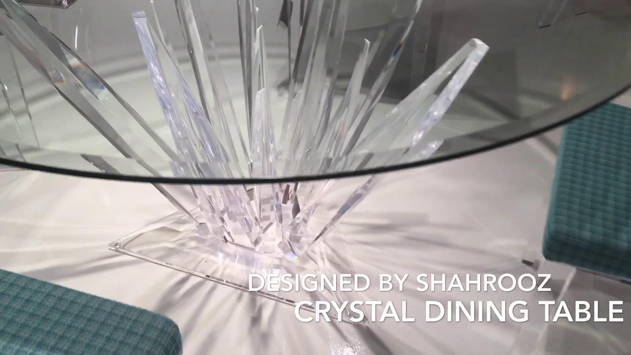 Crystal Acrylic dining table CR1600 by Shahrooz