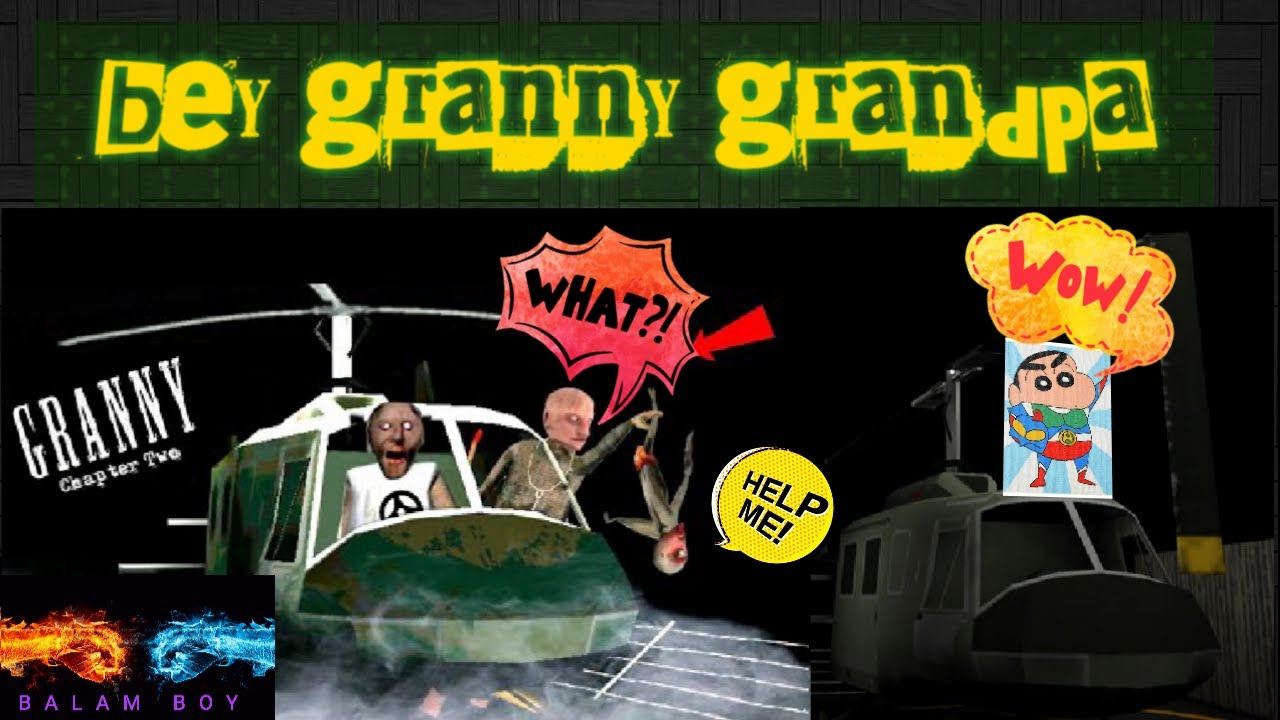 Granny chapter 2 complete! Helicopter escape with balam boy