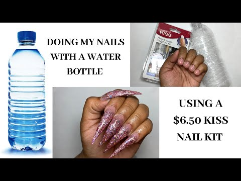 750 water bottle acrylic nails hack  does it work