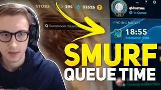 Bjergsen - 18 MIN SMURF QUEUE TIME?