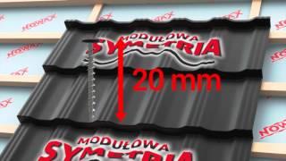Blachodachówka Modułowa Symetria - Nowax