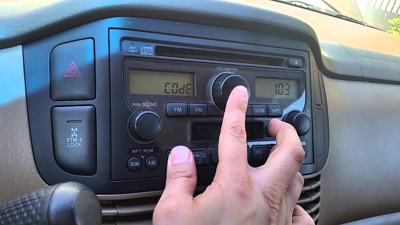 retrieve/enter Honda Radio code - YouTube
