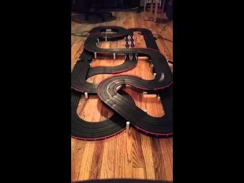 AFX 4 Lane Ho Slot Car Track