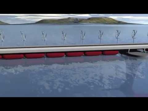 Floating energy producing bridge