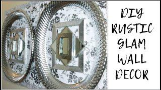 DIY DOLLAR TREE RUSTIC GLAM WALL DECOR