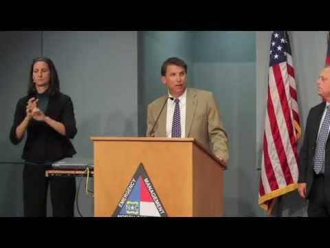 Gov. Pat McCrory briefs media on Hurricane Arthur