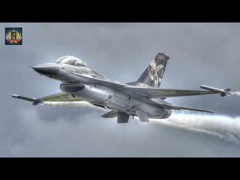 F -16 Fighter Jet - 8 Hours White Noise