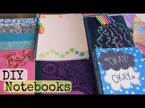 Diy notebooks tfios chalkboard duct tape more back for Back to school notebook decoration ideas
