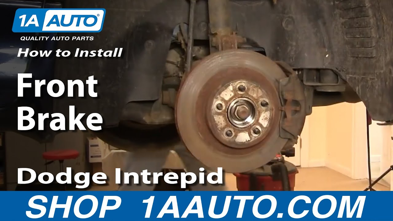 how to install replace front brakes on dodge intrepid 98 04 non abs 1aauto com youtube [ 1920 x 1080 Pixel ]