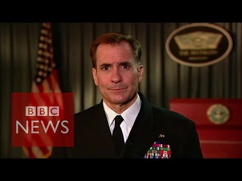 'We are on the offence against Islamic State' Admiral John Kirby tells BBC News