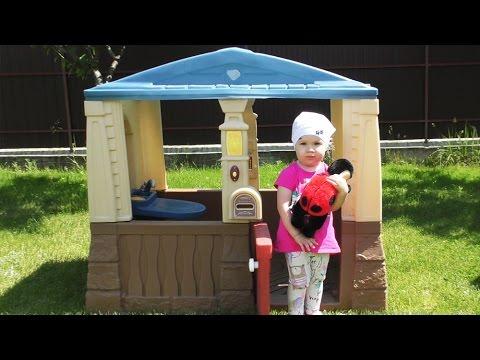 ✿ НОВЫЙ Игровой ДОМИК Дианы и Кукла Божья Коровка Playhouse for children dolls Ladybird unboxing