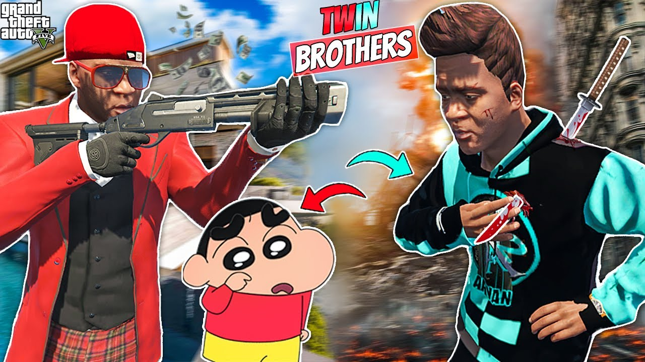 Franklin's Rich Twin Brother Tries To kill Shinchan & Franklin