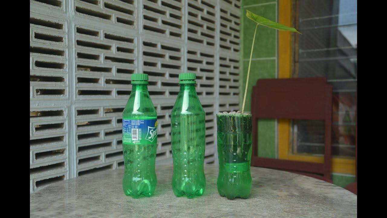 Cara Membuat Pot Bunga Yang Tidak Perlu Menyiram Dari Botol Plastik Bekas Youtube