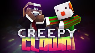 EVIL SCARY CLOWN ( Minecraft Build Battle w/ PrestonPlayz & Vikkstar123 )