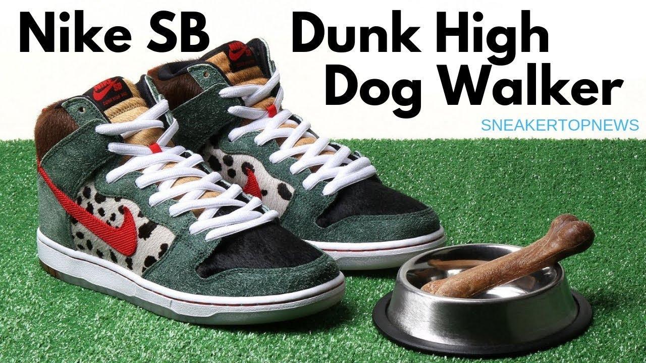 """Picante balcón Motivación  The Nike SB Dunk High """"Dog Walker"""" - YouTube"""