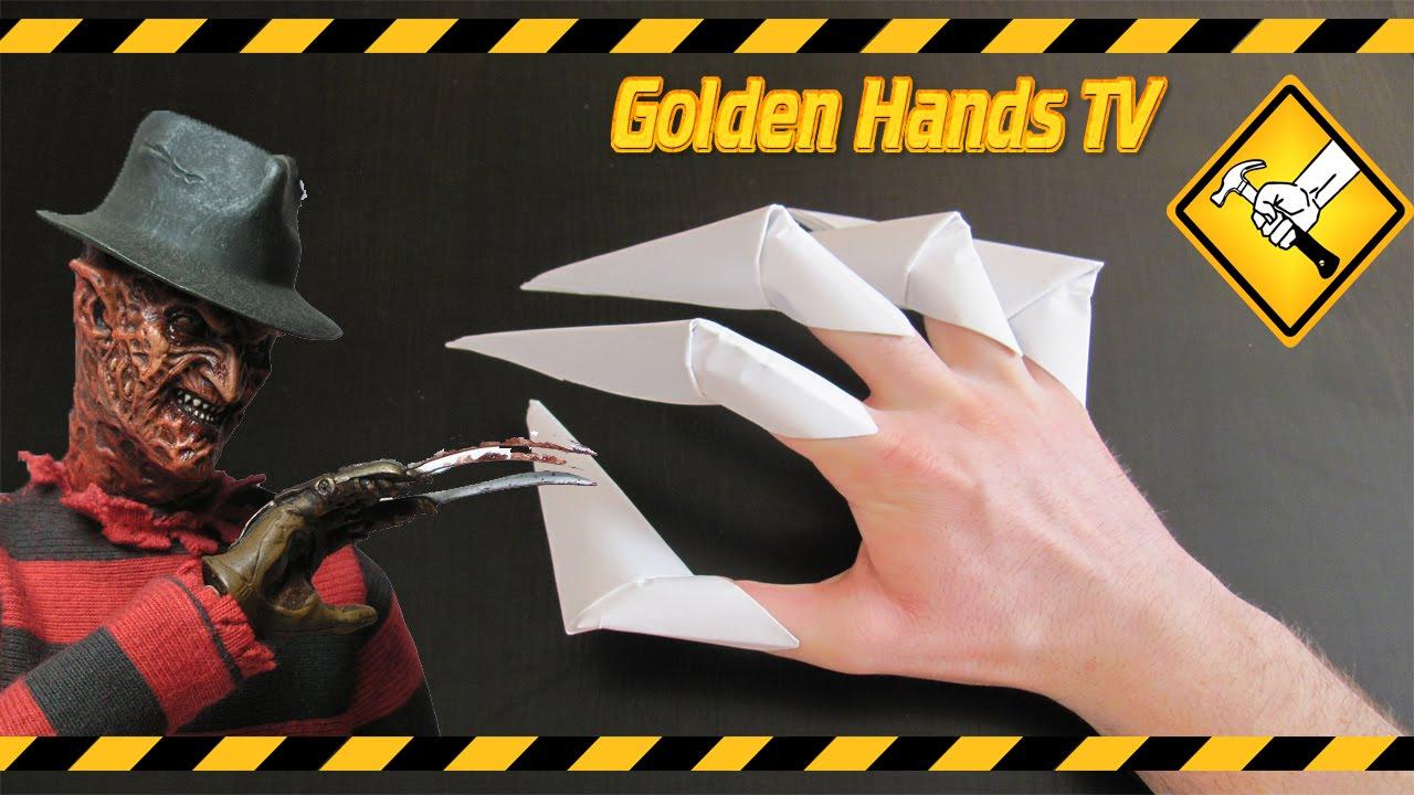 Как сделать из бумаги когти росомахи схема фото 503