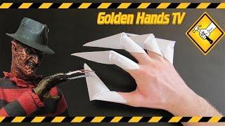 Как сделать когти из бумаги (Оригами)