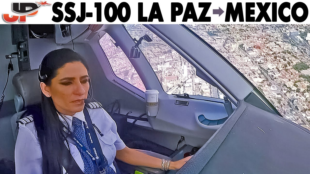 Piloting the SUKHOI SUPERJET La Paz to Mexico City | Cockpit Views