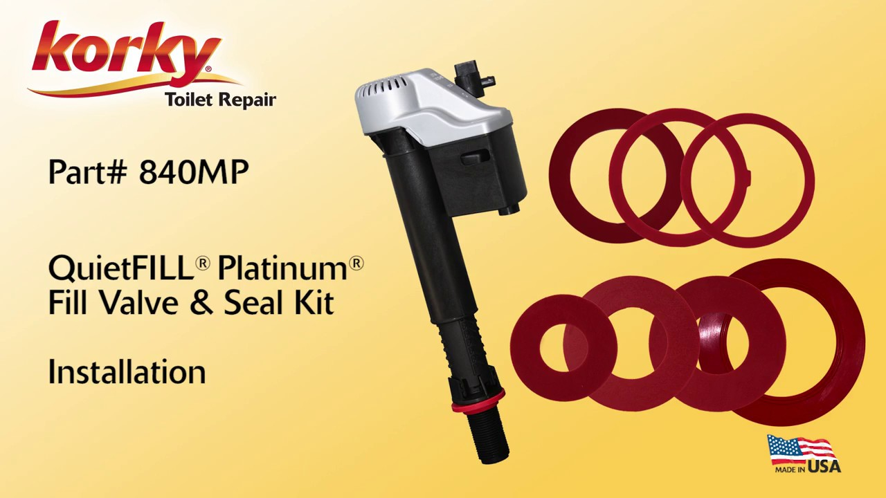 How to install Korky Platinum Fill Valve and Seal Kit - 840MP