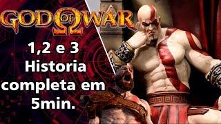 God of War 1 2 e 3 historia completa - resumida em 5min