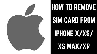 How to Remove a SIM Card from iPhone X, iPhone XS, iPhone XS Max, or iPhone XR