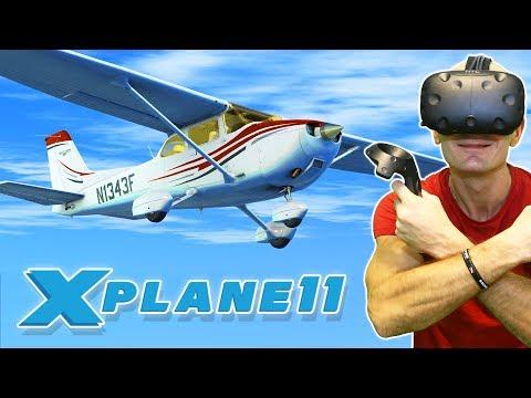 BEST VR FLIGHT SIMULATOR 2017?   X-Plane 11 VR Gameplay (Native VR Support)