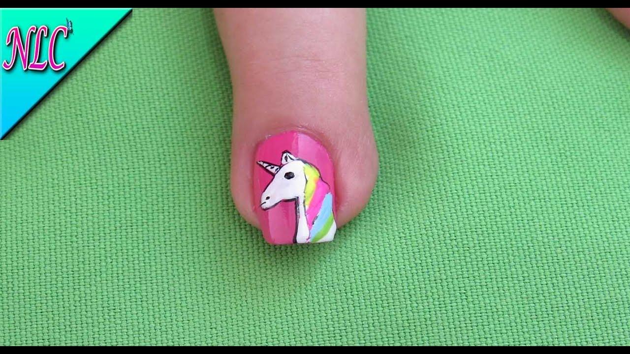 Decoración de Unicornio fácil de hacer - Unicorn Nail art - Como ...