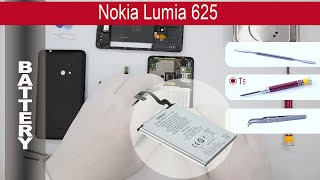 How to replace battery Nokia Lumia 625 RM-941(How to replace battery Nokia Lumia 625 RM-941 by himself. Removal battery Nokia Lumia 625 RM-941 at home with a minimal set of tools. If that video was ..., 2015-06-20T03:19:49.000Z)
