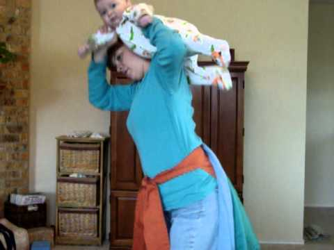 How to get baby on your back before the wrap or other carrier  sc 1 st  YouTube & How to get baby on your back before the wrap or other carrier - YouTube