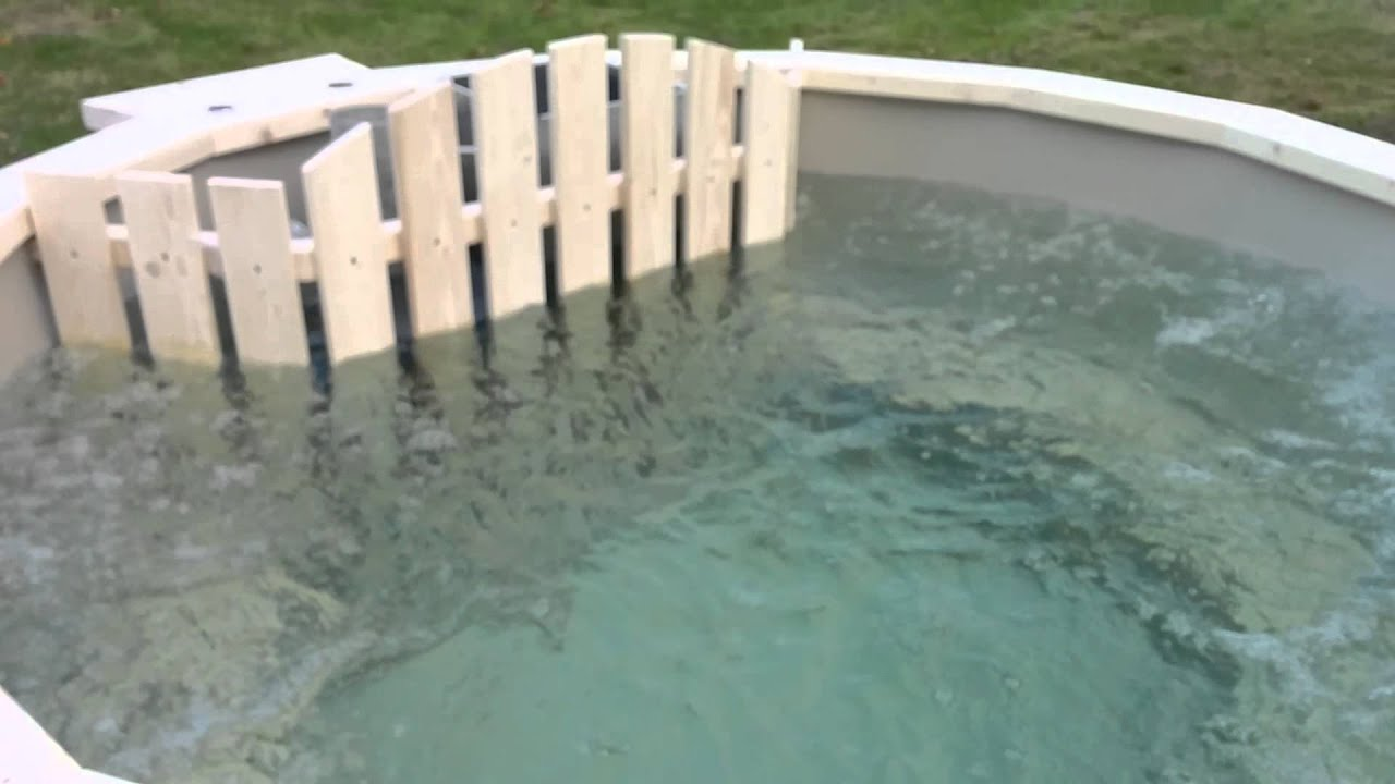 Wooden hot tub air bubble system / jacuzzi - YouTube