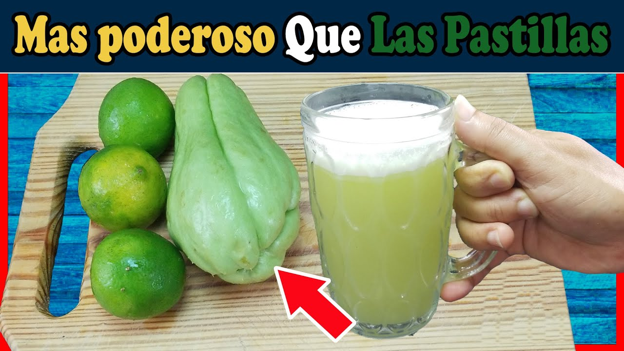 Combina CHAYOTE con Limón porque sirve para la Diabetes, regula la presión Arterial y  los Riñones