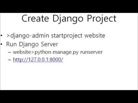 Python Django ( Install , Hello World )