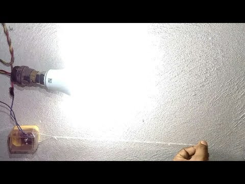 how to make  pull chain light at home