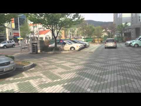 Walking home from school in Daegu