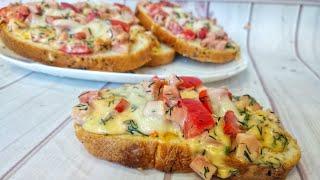 Бутерброды на завтрак. Рецепт горячих бутербродов на скорую руку от Тани