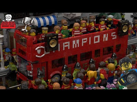 LEGO MOC#33-6  Manchester United Football Club (MUFC) Open Top Double Decker Bus