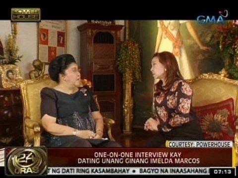 24Oras: One-on-one interview ni Mel Tianco kay dating unang ginang Imelda Marcos