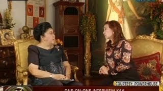 24Oras: One-on-one interview ni Mel Tianco kay dating unang ginang Imelda Marcos