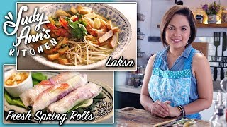 [Judy Ann's Kitchen 11] Ep 1 : Laksa and Fresh Spring Rolls with Peanut Sauce